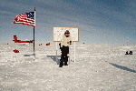 Standing at the South Pole