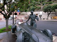 Fangio bronze sculpture in Monaco