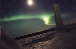 [Northern lights in northern Sweden, April 1997]