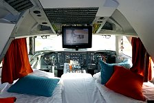 Jumbo flight deck bed